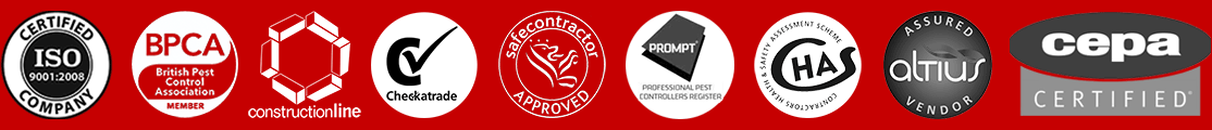Pest Control London Certification Logos